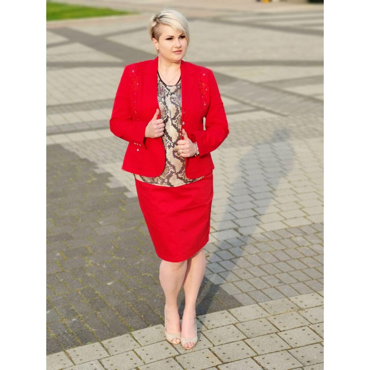 Rebecca szoknya - molett Lafei-Nier piros pamut szoknya