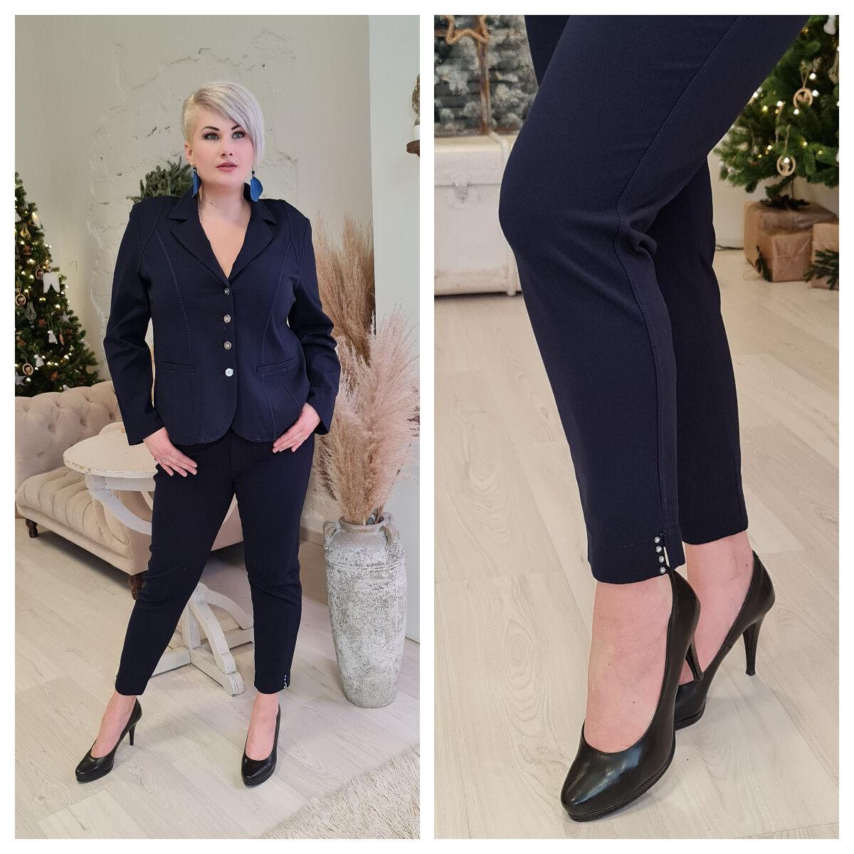 Madlen nadrág - nagyméretű Lafei-Nier kék nadrág
