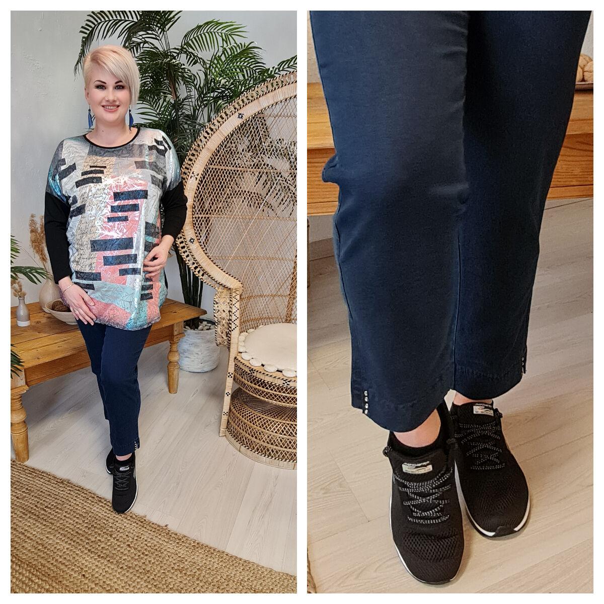 Rozi nadrág - molett Lafei-Nier kék pamut nadrág