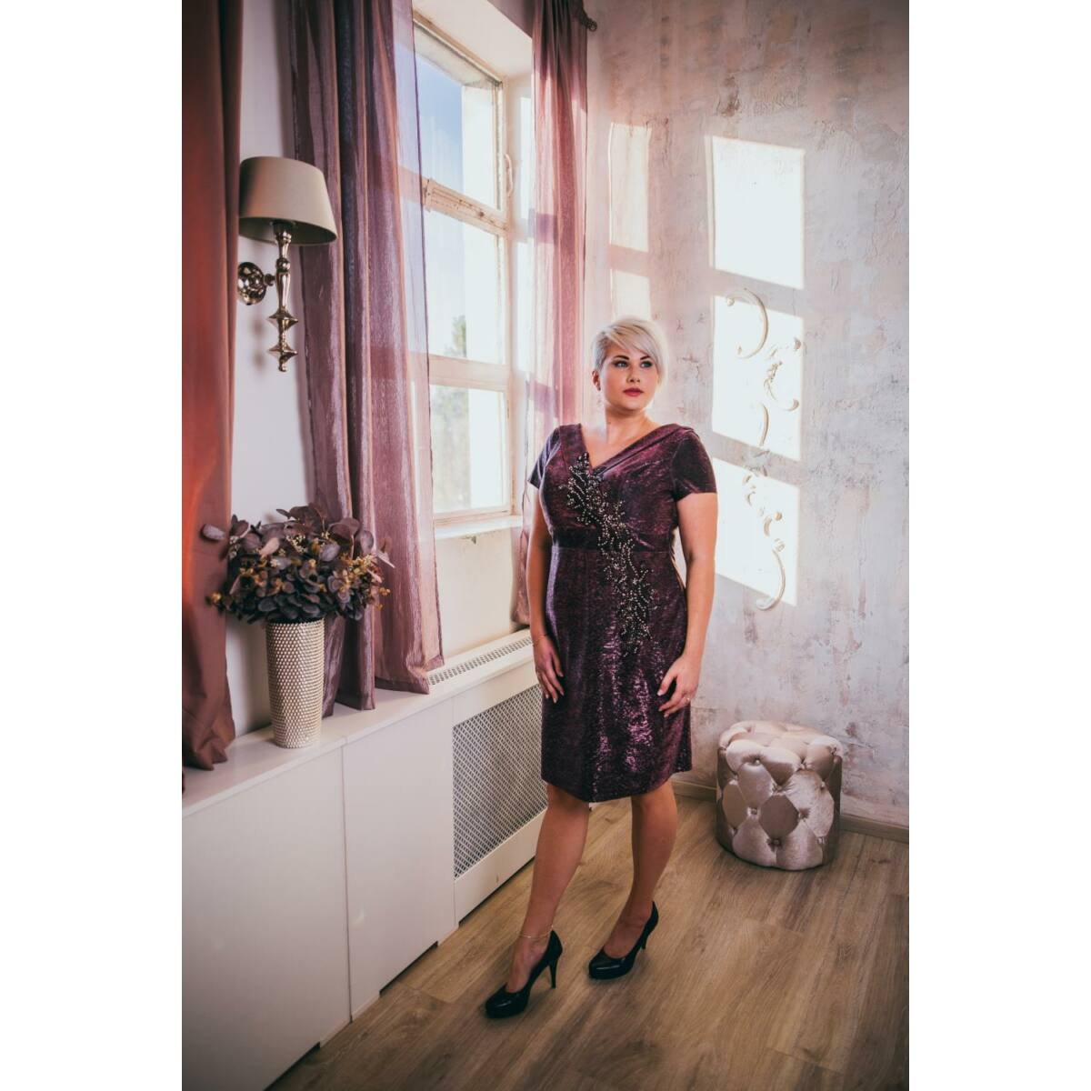 Belinda ruha - plus size örömanya és alkalmi ruha