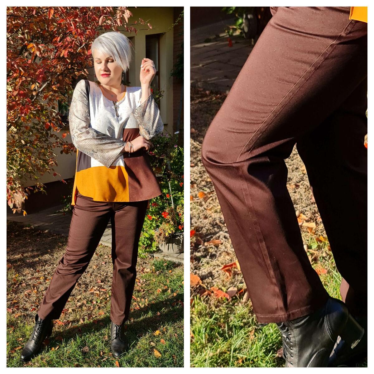 Cipóra nadrág - nagyméretű barna nadrág