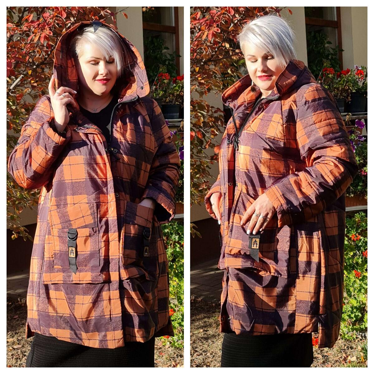 Delani kabát - nagyméretű mintás kabát