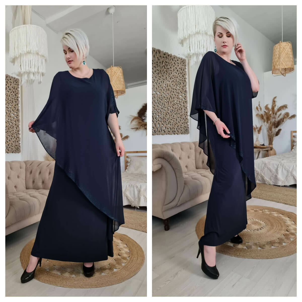 Estella ruha - nagyméretű örömanya és alkalmi ruha