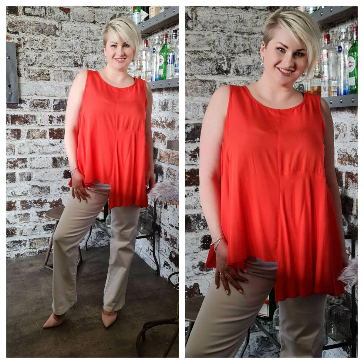 Tina trikó - plus size narancs trikó