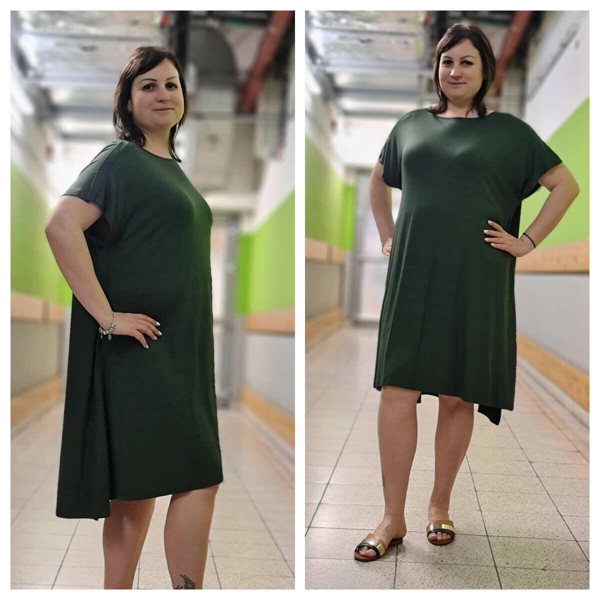 Margaret ruha - MAT Fashion nagyméretű zöld ruha
