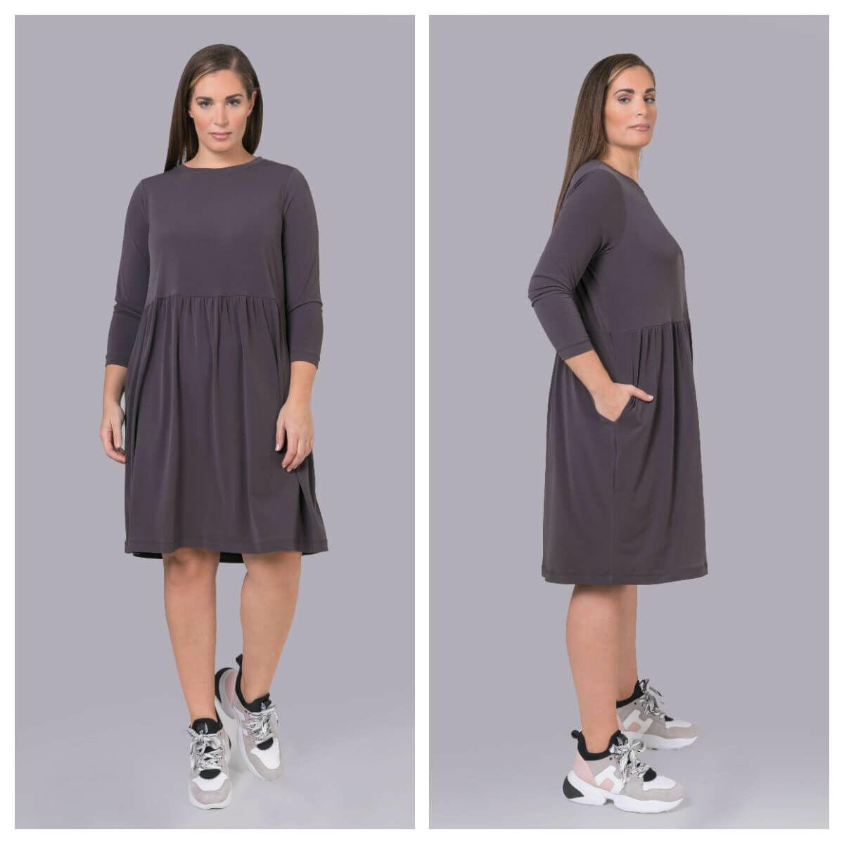 Michelle ruha - nagyméretű szürke ruha