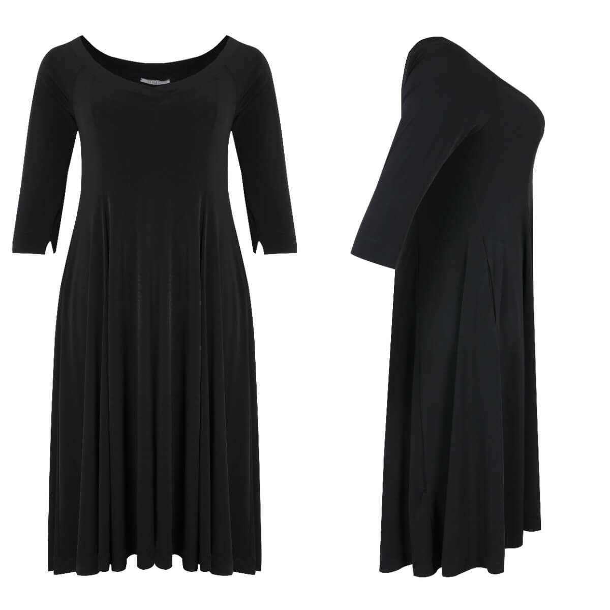 Mirtill ruha - molett fekete ruha