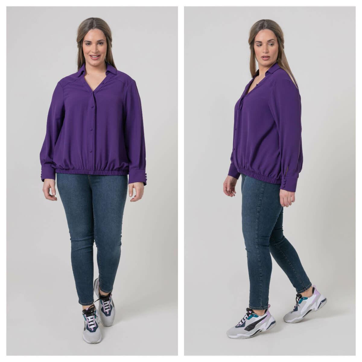 Natasa ing - nagyméretű lila ing