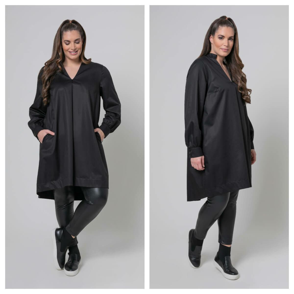 Zelina ingruha - molett fekete ingruha