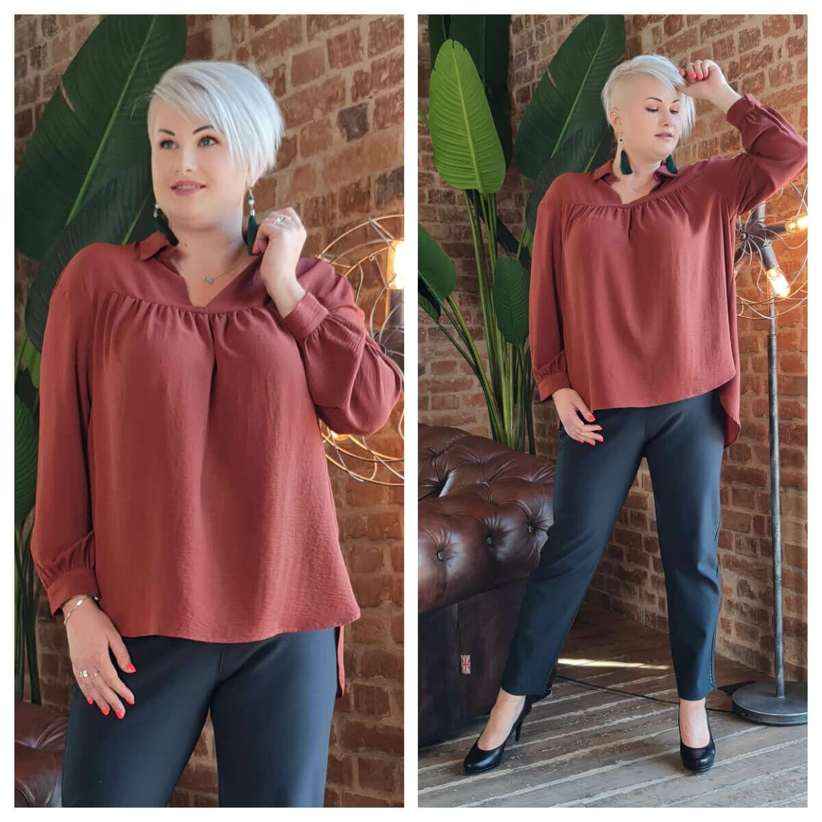 Loretta ing - nagyméretű barna ing