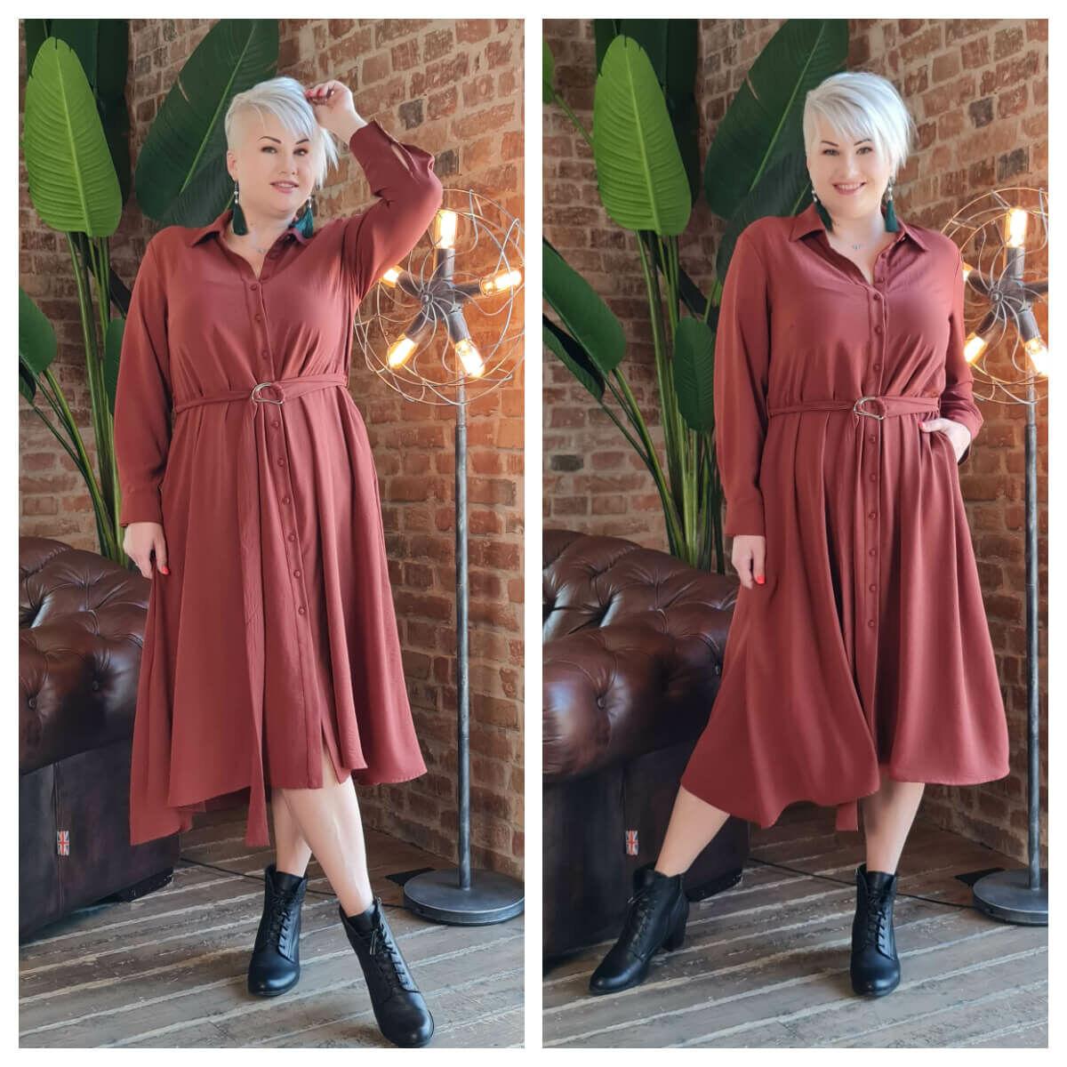 Padma ruha - nagyméretű barna ruha