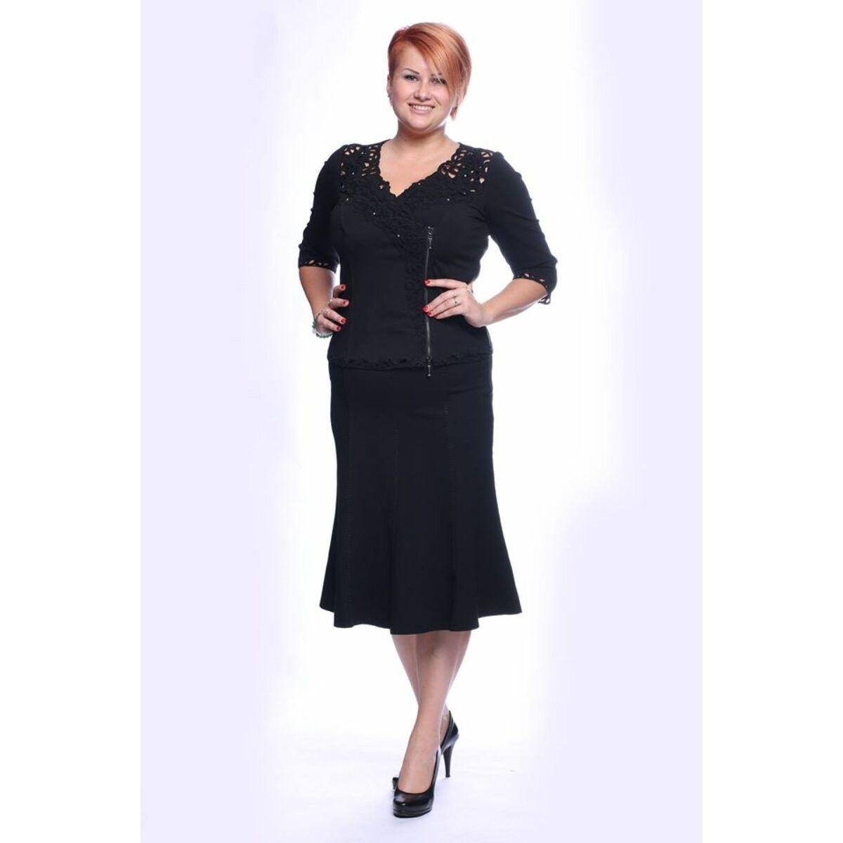 Lizi szoknya - nagyméretű Lafei-Nier fekete harangszoknya