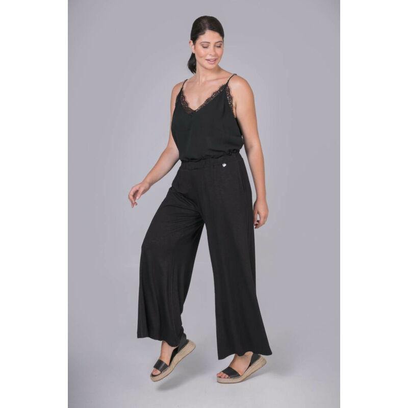 Dina nadrág - nagyméretű bőszárú fekete nadrág