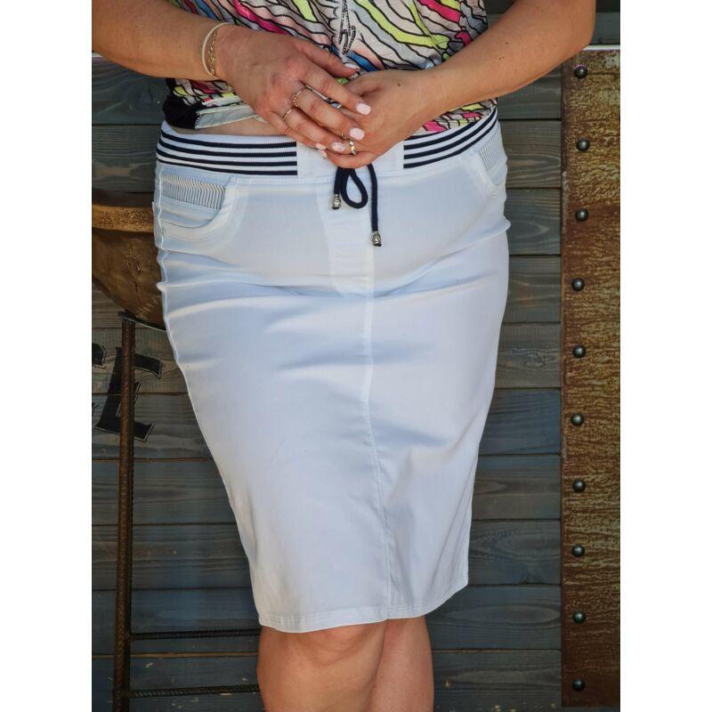 Adelin szoknya - molett fehér szoknya