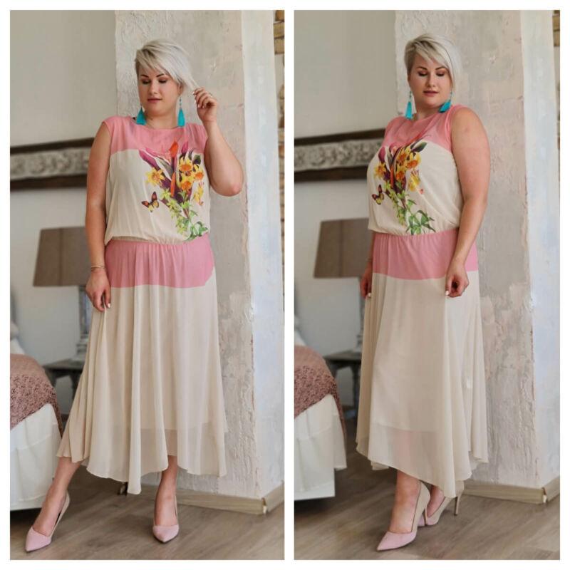 Margaréta ruha - plus size félalkalmi ruha