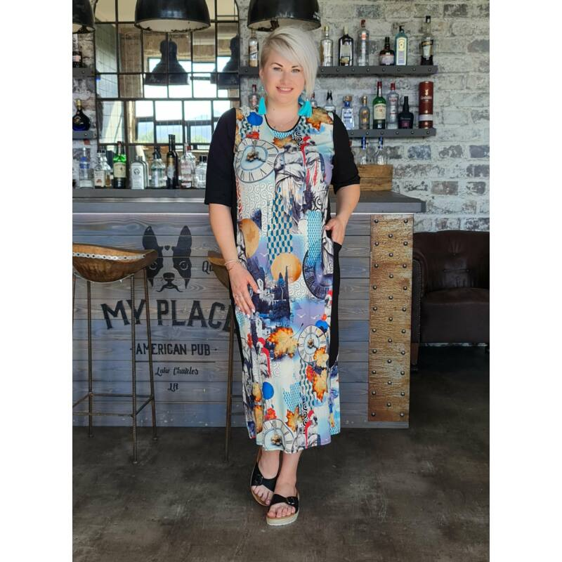Shirley ruha - molett mintás ruha
