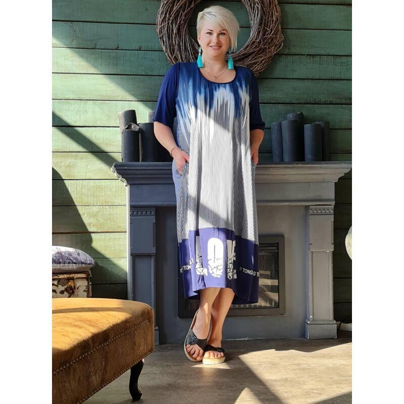 Vera ruha - nagyméretű kék ruha