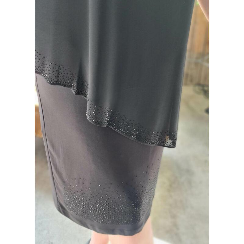 Vivien ruha - nagyméretű fekete alkalmi ruha