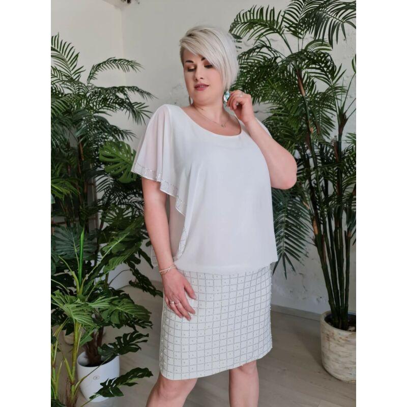 Adaora ruha - plus size fehér alkalmi és menyasszonyi ruha