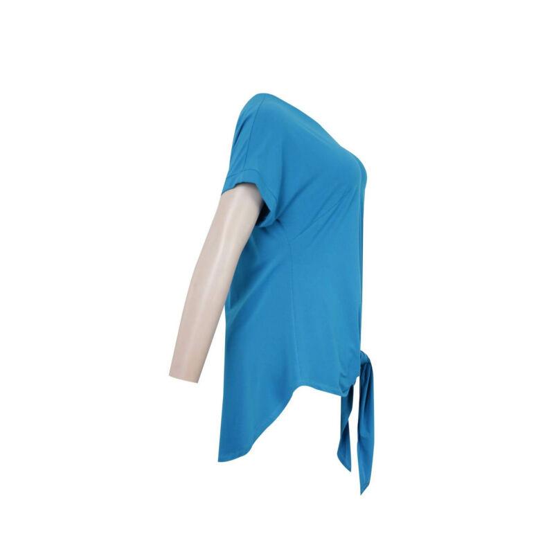 Janka felső - MAT Fashion hátul hosszított türkiz felső