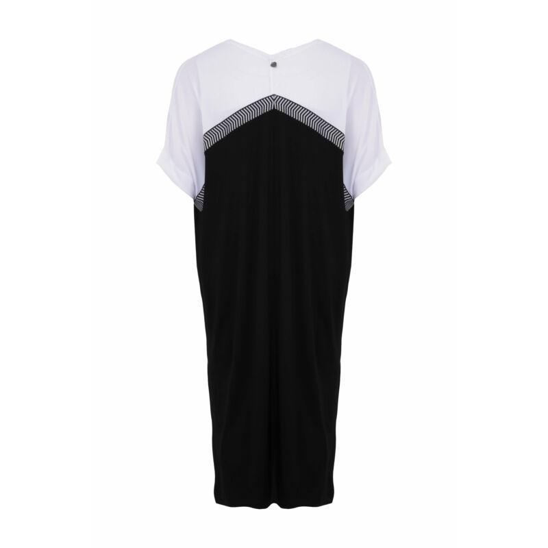 Judy ruha - nagyméretű fekete-fehér ruha