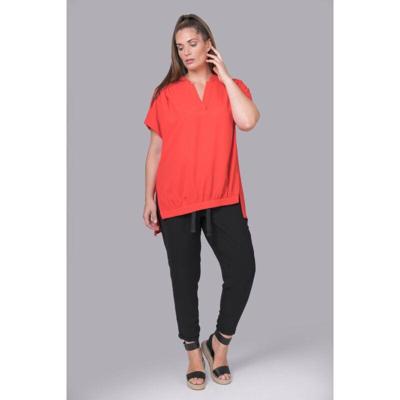 Lara felső - MAT Fashion elöl húzott narancs felső