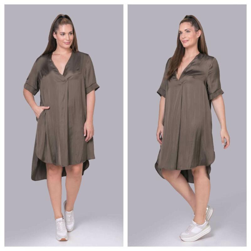 Loretta ruha - MAT Fashion V-nyakú szatén ruha