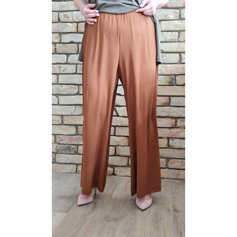 Ajna nadrág - bőszárú barna plus size nadrág