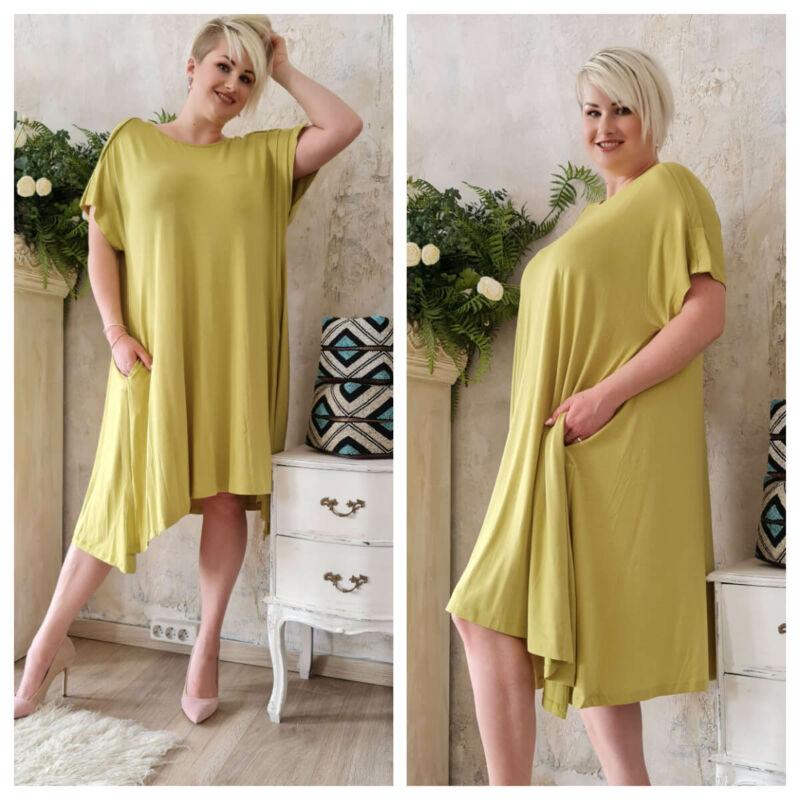 Marie ruha - nagyméretű lime színű ruha