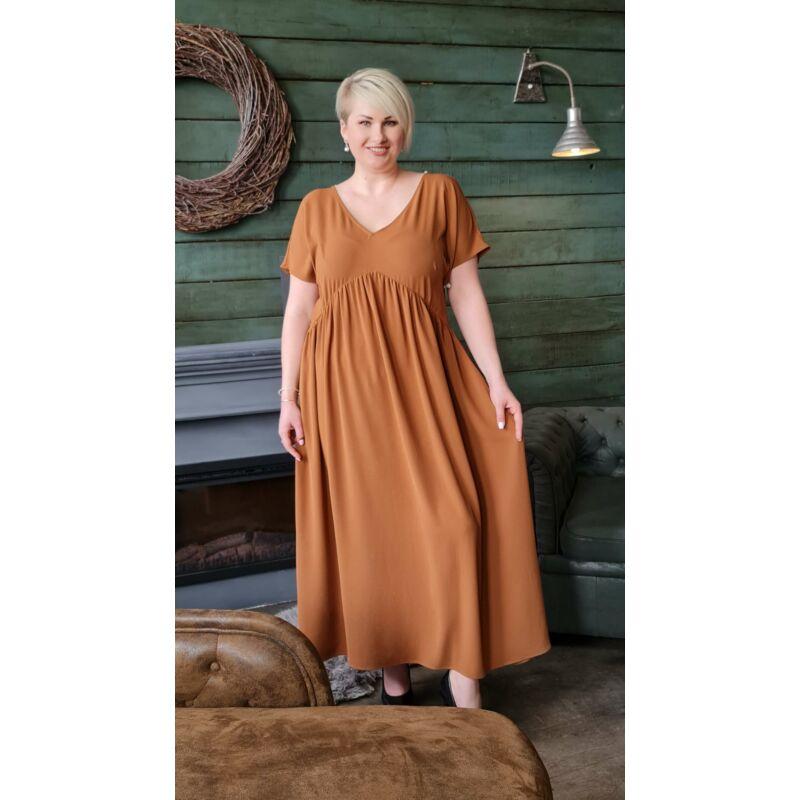Milla ruha - molett maxi barna ruha