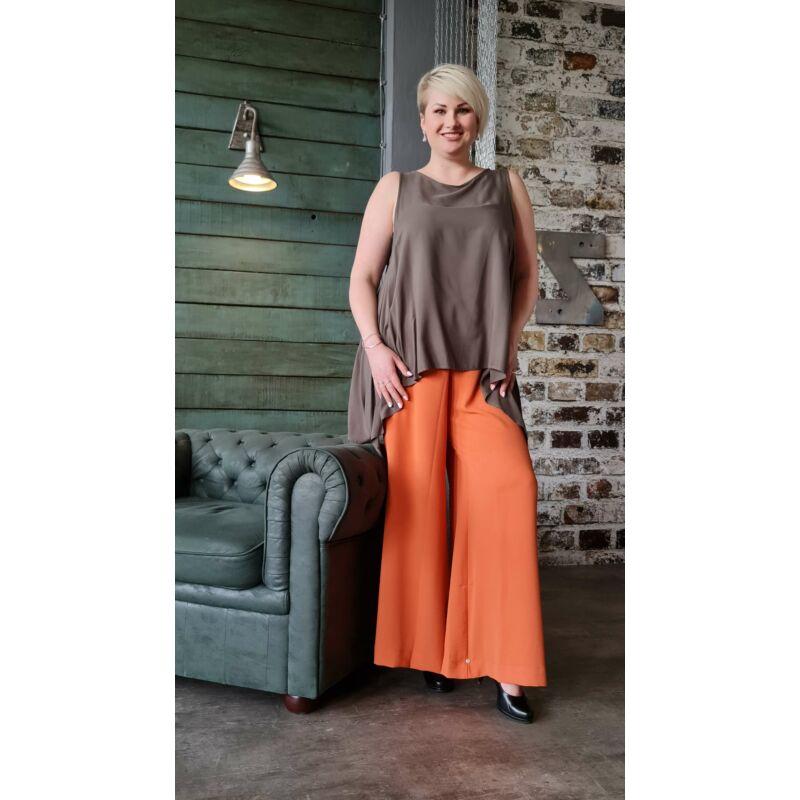 Norma nadrág - molett gumis derekú narancs nadrág