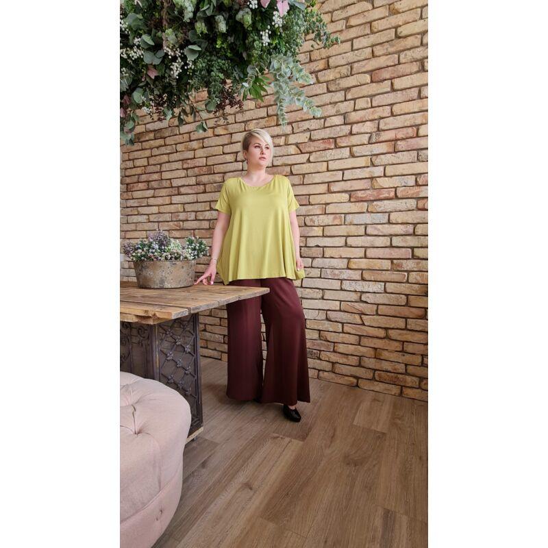 Susan felső - plus size lime színű bő felső