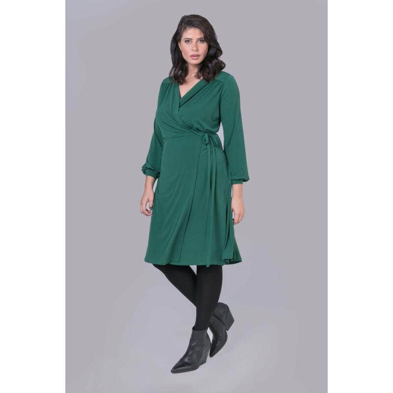 Stefánia ruha - molett átlapolós ruha