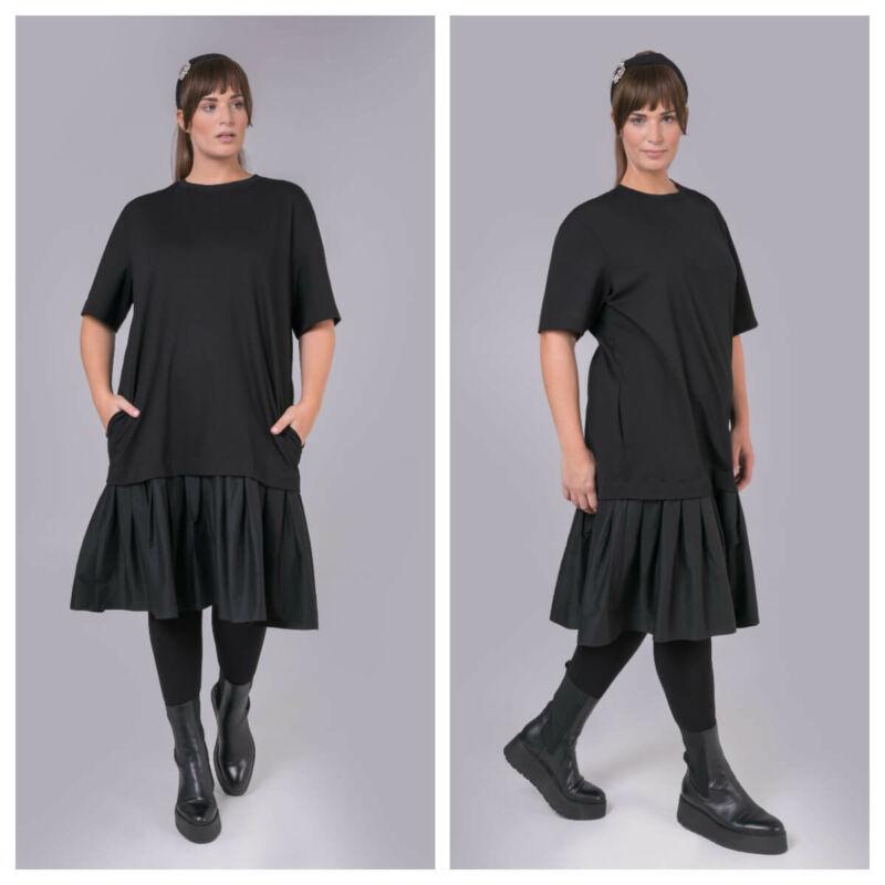 Zia ruha - nagyméretű fekete ruha