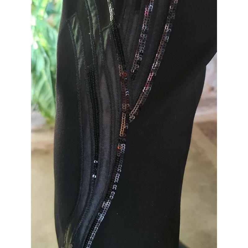 Erica leggings - mintás fekete leggings