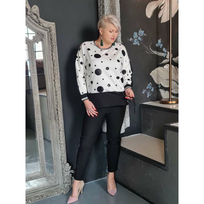 Glenda nadrág - nagyméretű fekete nadrág