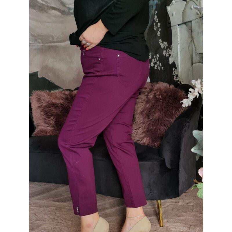 Janice nadrág - plus size lila nadrág