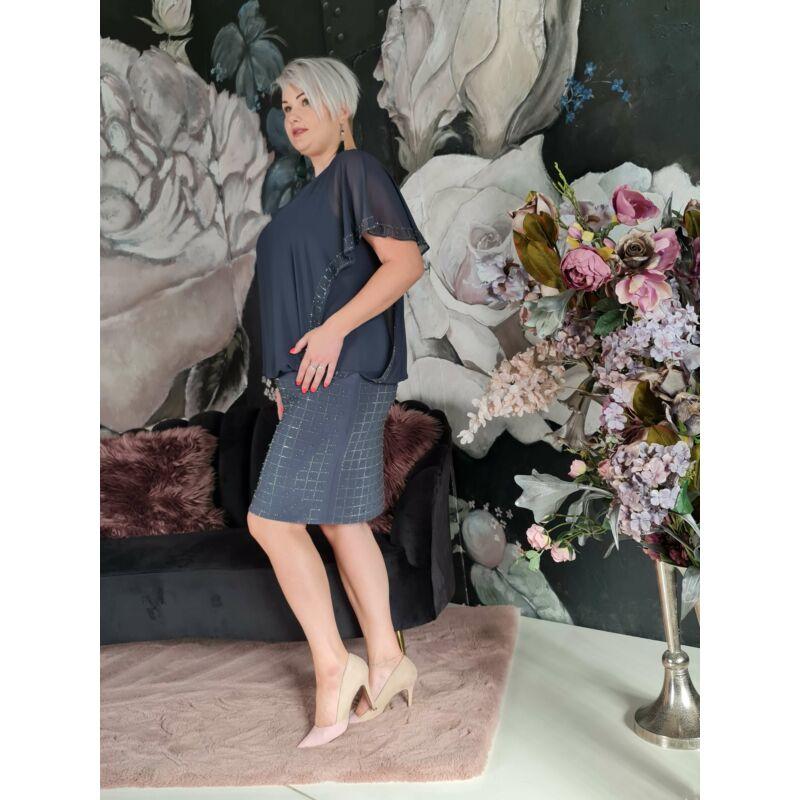 Judy ruha - molett szürke örömanya és alkalmi ruha