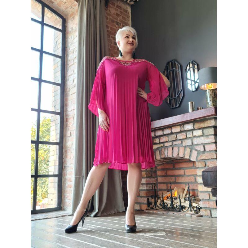 Louise ruha - molett pliszírozott ruha