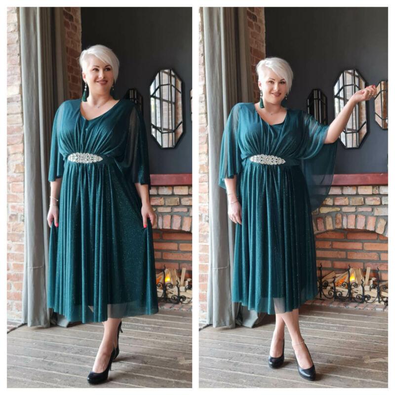 Marie ruha - plus size zöld ruha
